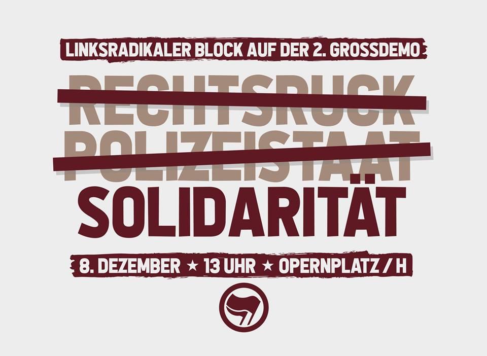 Am 8.12. in den linksradikalen Block auf der #noNPOG-Großdemo! [Gemeinsame Zuganreise aus BS]
