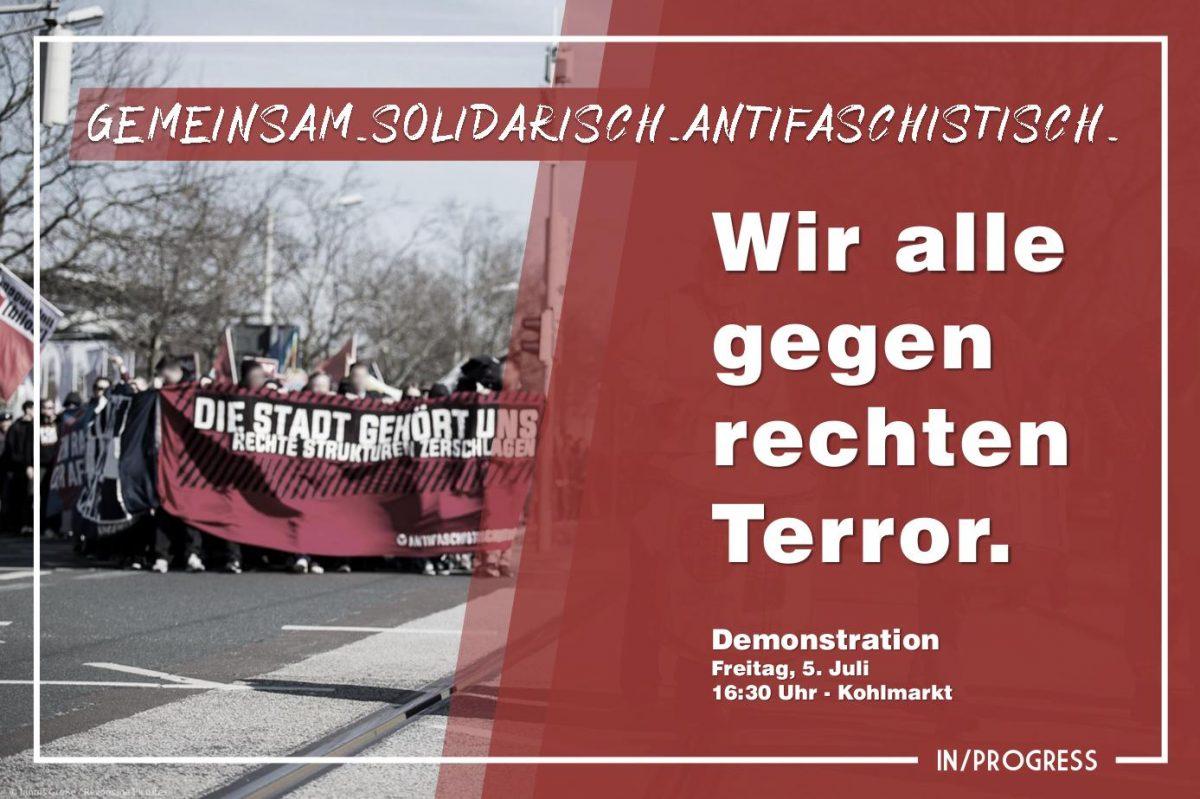 Demo: Wir alle gegen rechten Terror!