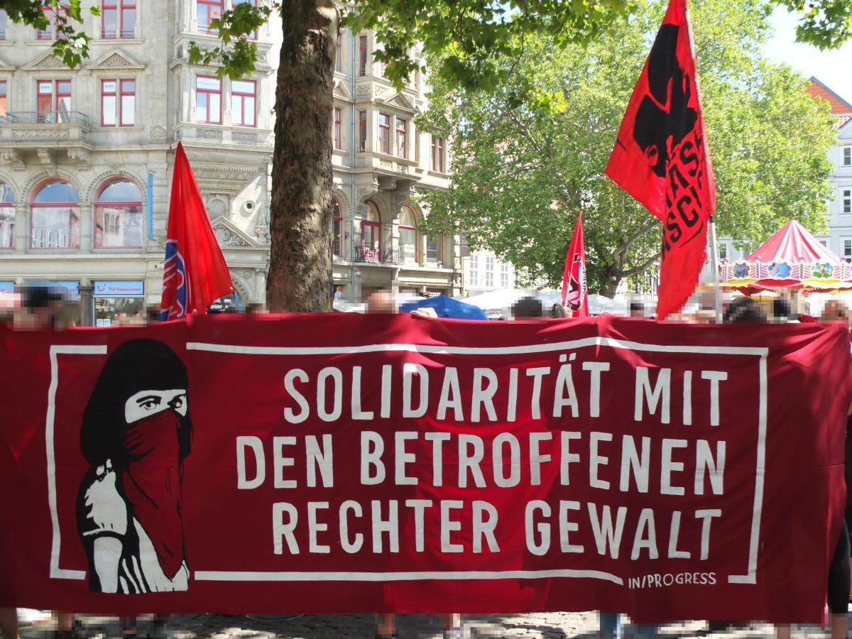 Solidarität mit den Betroffenen rechter Gewalt!