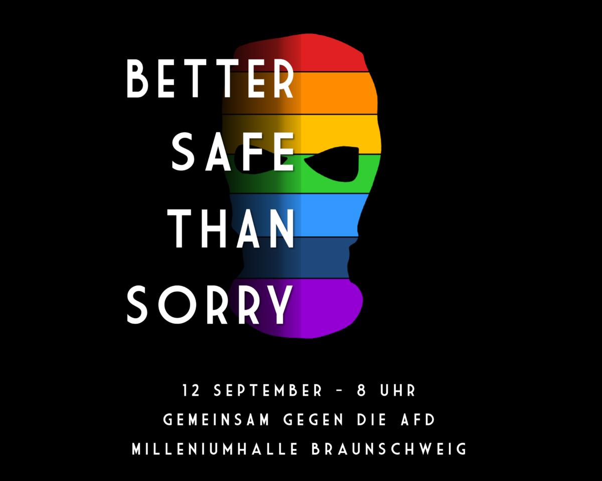Gegen den Landesparteitag der AfD in Braunschweig am 12. September 2020!