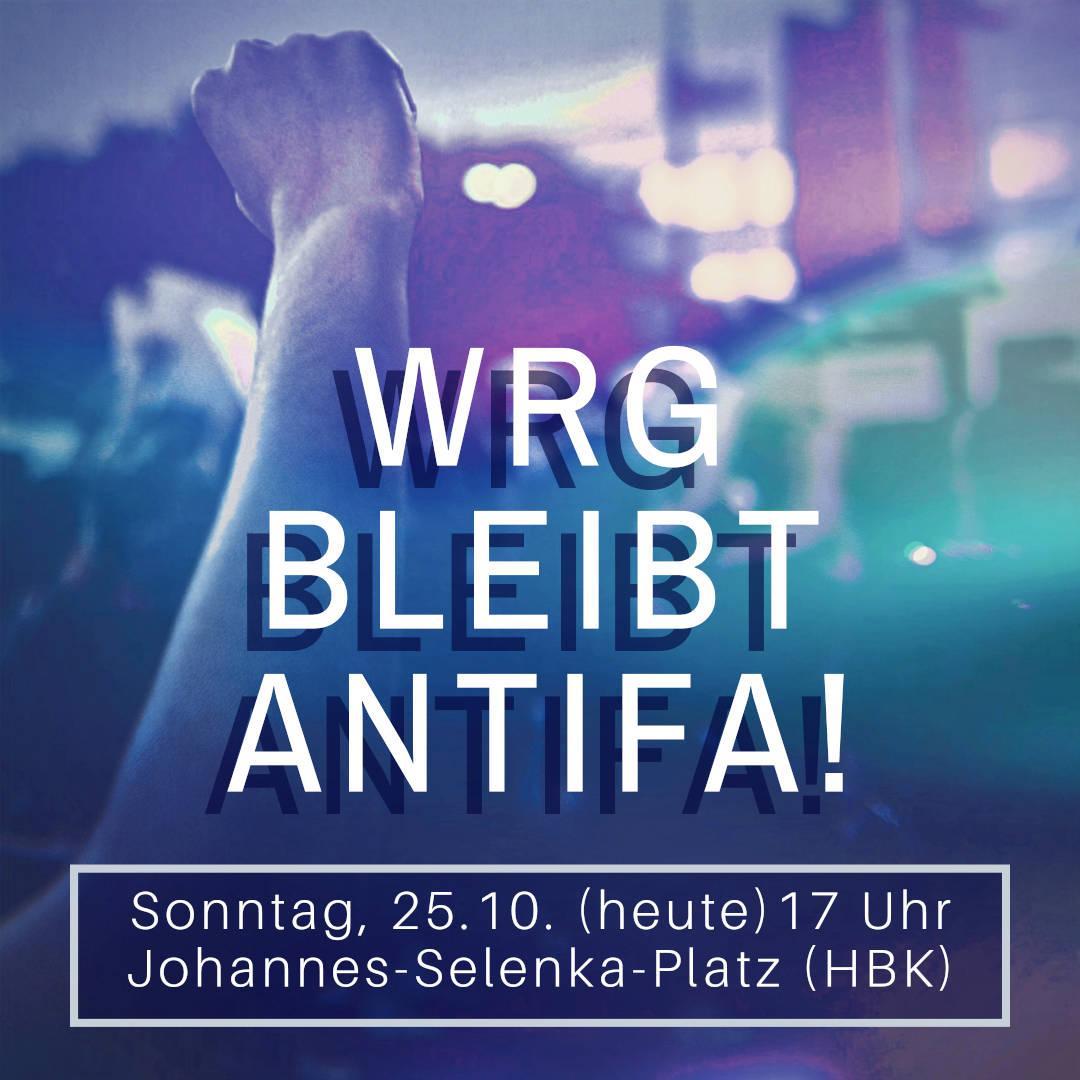 Sponti gegen Nazis im WRG – Heute 17h HBK