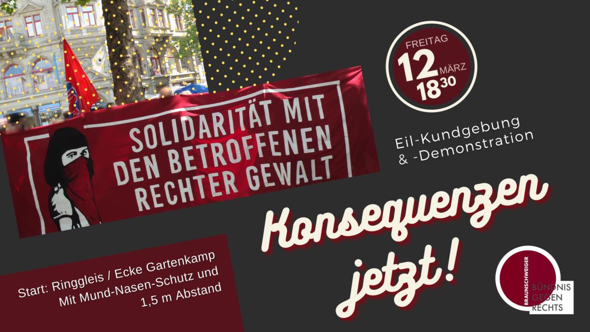 Solidarität mit dem Antifaschistischen Café – Demo am 12. März